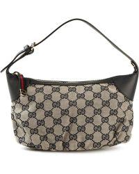 Gucci Signature Monogram Shoulder Bag - Lyst