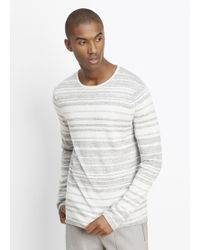 Vince | Sporty Jaspé Striped Lightweight Sweater | Lyst