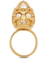 Alexander McQueen Queen Skull Ring gold - Lyst
