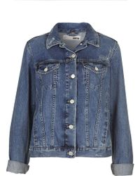 Topshop Tall Moto Western Denim Jacket - Lyst