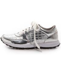 Sam Edelman Des Jogging Sneakers - Silver - Lyst