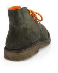 Polo Ralph Lauren Michael Suede Desert Boots green - Lyst