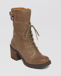 Lucky Brand Lace Up Lug Sole Combat Boots - Nylah - Lyst