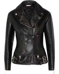 Christopher Kane Belted Leather Jacket - Lyst
