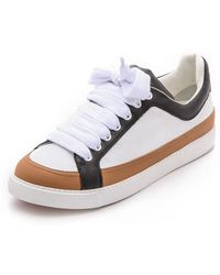 See By Chloé Sam Sneakers Whiteblacktan - Lyst