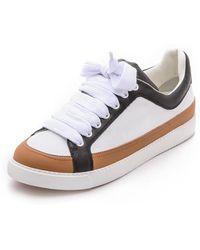 See By Chloé Sam Sneakers - Whiteblackred - Lyst