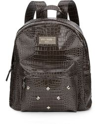 Valentino By Mario Valentino - Diego Croc-embossed Studded Leather Backpack - Lyst