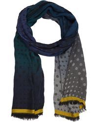 Paul Smith Ombré Dot-print Scarf - Lyst