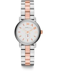 Marc By Marc Jacobs Baker Two-Tone Stainless Steel Bracelet Watch - Lyst