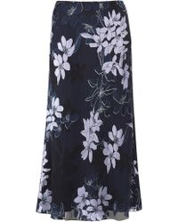 Jacques Vert - Floral Devore Skirt - Lyst