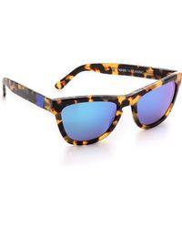 Westward Leaning Color Revolution Sunglasses - Sandy Tortoiseblue Mirror - Lyst