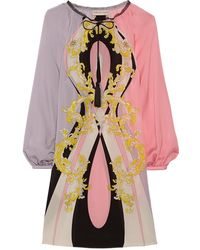 Emilio Pucci Printed Silk Dress - Lyst
