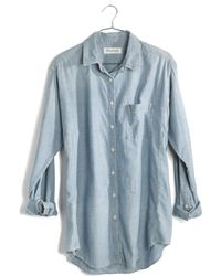 Madewell Oversized Button-Down Chambray Shirt - Lyst