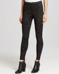 Free People Leggings - Leopard Print Seamed Skinny - Lyst
