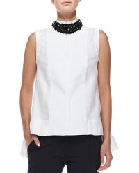 Brunello Cucinelli Swarovski Crystal Collar Necklace - Lyst