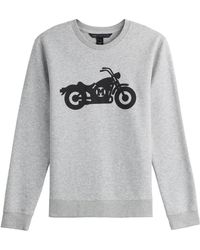 Marc By Marc Jacobs Printed Cotton Sweatshirt - Lyst