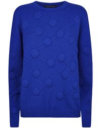 Christopher Kane Molecule Motif Cashmere Sweater - Lyst
