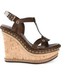 Casadei '70S' Wedge Sandals - Lyst