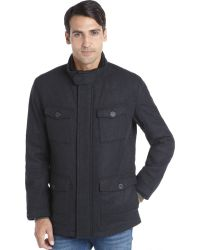 Marc New York Charcoal Twill Wool Removable Lining 4 Pocket 'Travis' Coat - Lyst