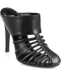 Altuzarra Capello Leather Mule Sandals black - Lyst