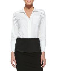 Donna Karan New York Tailored Menswear Shirt With Long Cuffs - Lyst