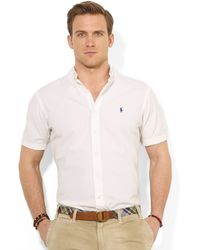 Ralph Lauren Polo Classicfit Shortsleeved Seersucker Shirt - Lyst
