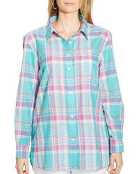 Ralph Lauren Lauren Plaid Boyfriend Shirt multicolor - Lyst