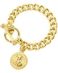 Juicy Couture Status Coin Charm Bracelet - Lyst