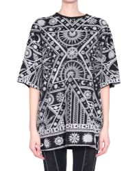 KTZ Oversized Cotton Tshirt with Flocked Print - Lyst
