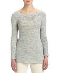 Donna Karan New York Wideneck Silk Sweater - Lyst