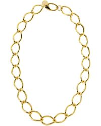 1AR By Unoaerre - Gold-Plated Large Link Necklace - Lyst