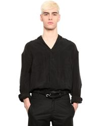 Y. Project Oversized Washed Bemberg Shirt - Lyst