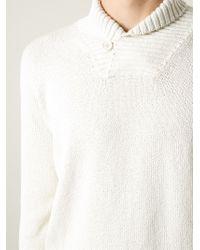 Loro Piana Shawl Neck Sweater - Lyst