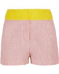 Mary Katrantzou - Color-block Brocade Shorts - Lyst