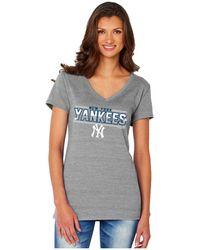 Soft As A Grape - Women's New York Yankees Sequin Marled T-shirt - Lyst