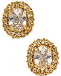 Kate Spade - Crystal Oval Stud Earrings - Lyst
