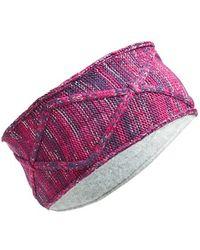 Zella - Reflective Knit Headband - Purple - Lyst