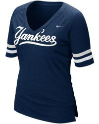 Nike  Short Sleeve New York Yankees V-Neck T-Shirt - Lyst