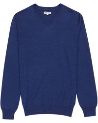 Reiss Enigma Wool V-neck Jumper - Lyst