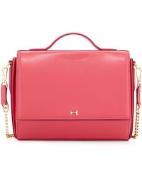 Halston Heritage Structured Leather Crossbody Bag pink - Lyst