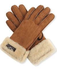 Ugg Turn-cuff Sheepskin Gloves - Lyst