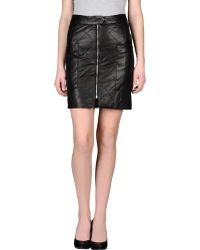 Twenty 8 Twelve Leather Skirt - Lyst