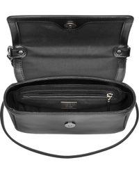 Class Roberto Cavalli - Claudia Signature Collection Black And Leopard Print Shoulder Bag - Lyst