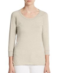James Perse Hairline Striped Pullover - Lyst