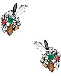 BCBGMAXAZRIA Multi Color Floral Earring - Lyst