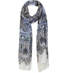 Topshop Feather Border Scarf - Lyst