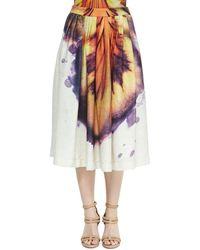 Lenny Niemeyer - Runway Pleated Large Hibiscus-Print Skirt - Lyst