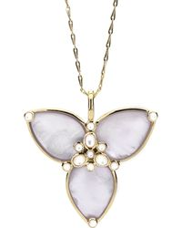 Elizabeth Showers - Mariposa Amethyst/mother-of-pearl Pendant Necklace - Lyst