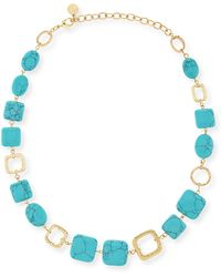 R.j. Graziano - Turquoise-hue Station Necklace - Lyst