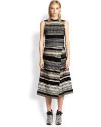 Proenza Schouler Velvet Jacquard Midi Dress - Lyst
